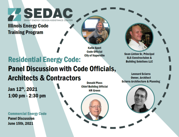 Panelist for SEDAC Residential Energy Code Discussion